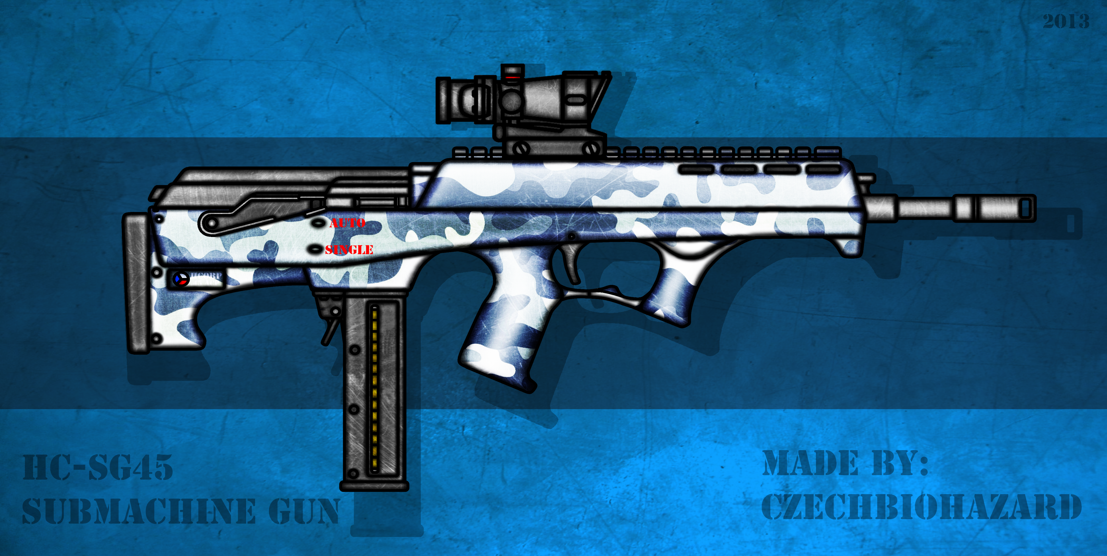 Fictional Firearm: HC-SG45 Submachine Gun by CzechBiohazard