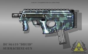 Fictional Firearm: HC-SG419 Submachine Gun by CzechBiohazard
