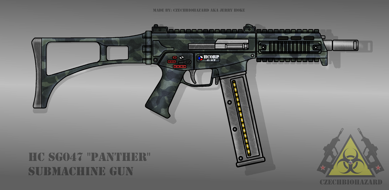 Fictional Firearm: HC-SG047 Submachine Gun by CzechBiohazard
