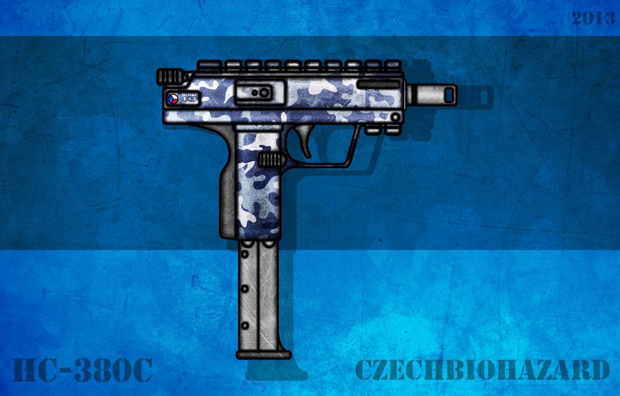 Fictional Firearm: HC-380c Machine Pistol by CzechBiohazard