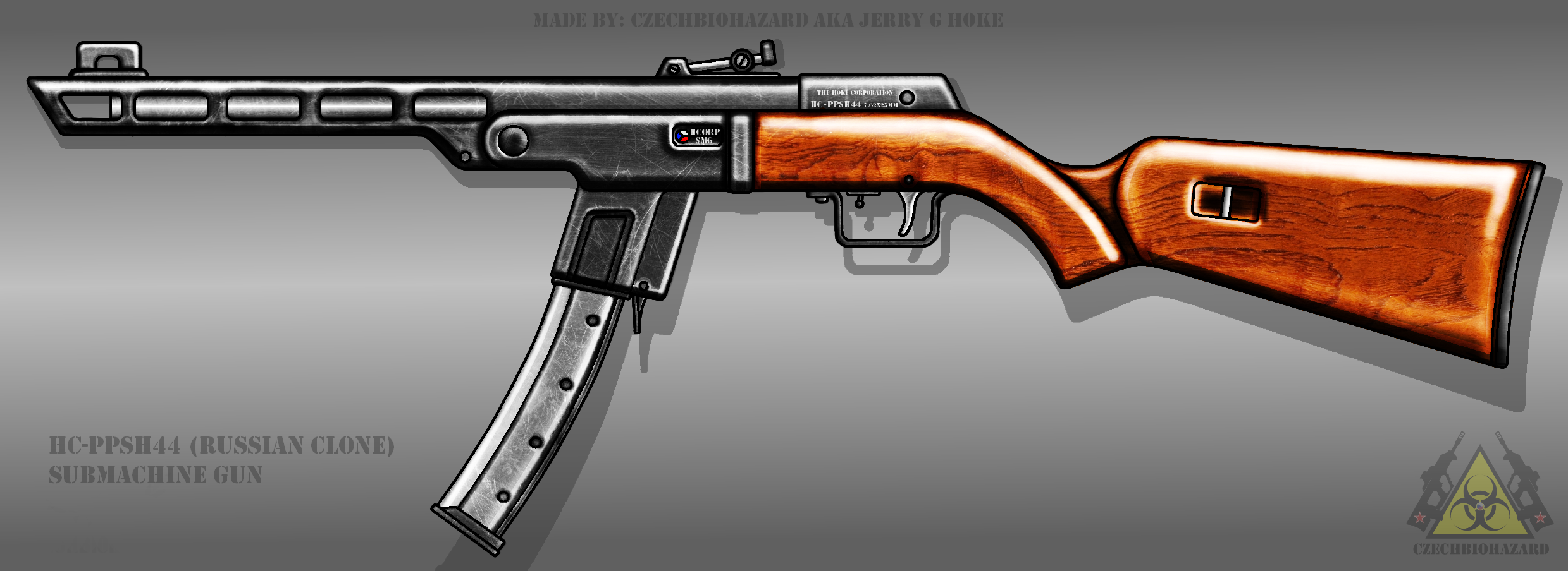 Fictional Firearm: HC-PPSH44 Submachine Gun by CzechBiohazard