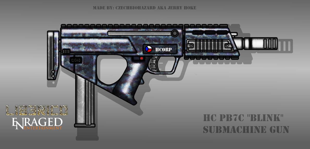 Fictional Firearm: HC-PB7C Submachine Gun by CzechBiohazard