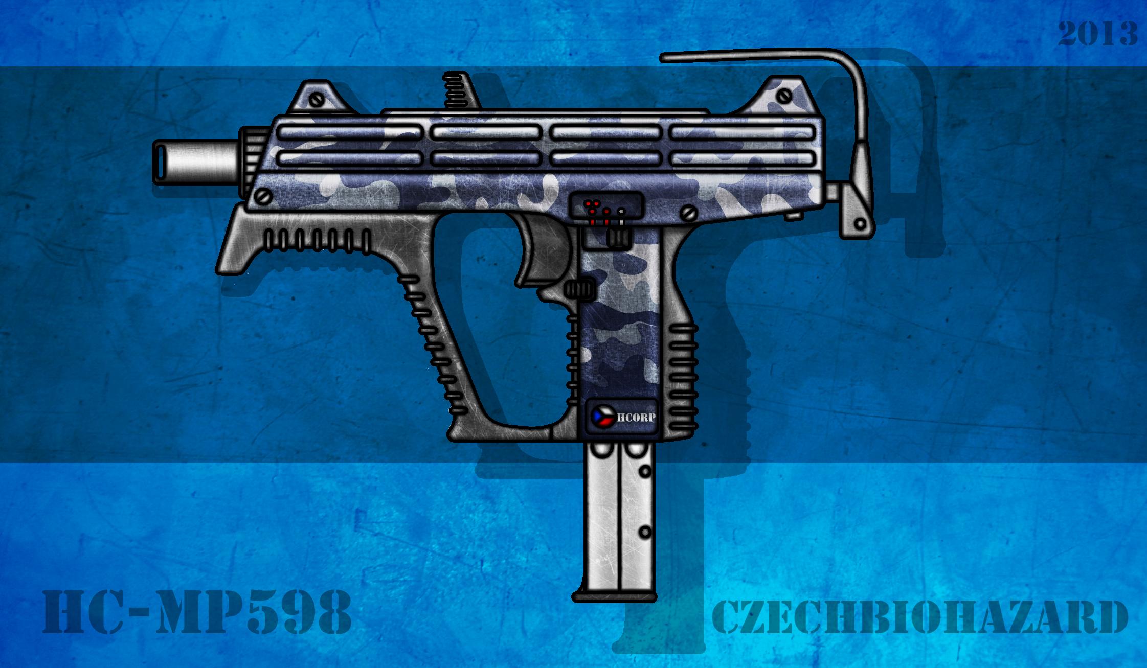 Fictional Firearm: HC-MP598 Submachine Gun by CzechBiohazard