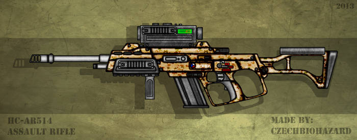 Fictional Firearm: HC-AR514 Assault Rifle by CzechBiohazard