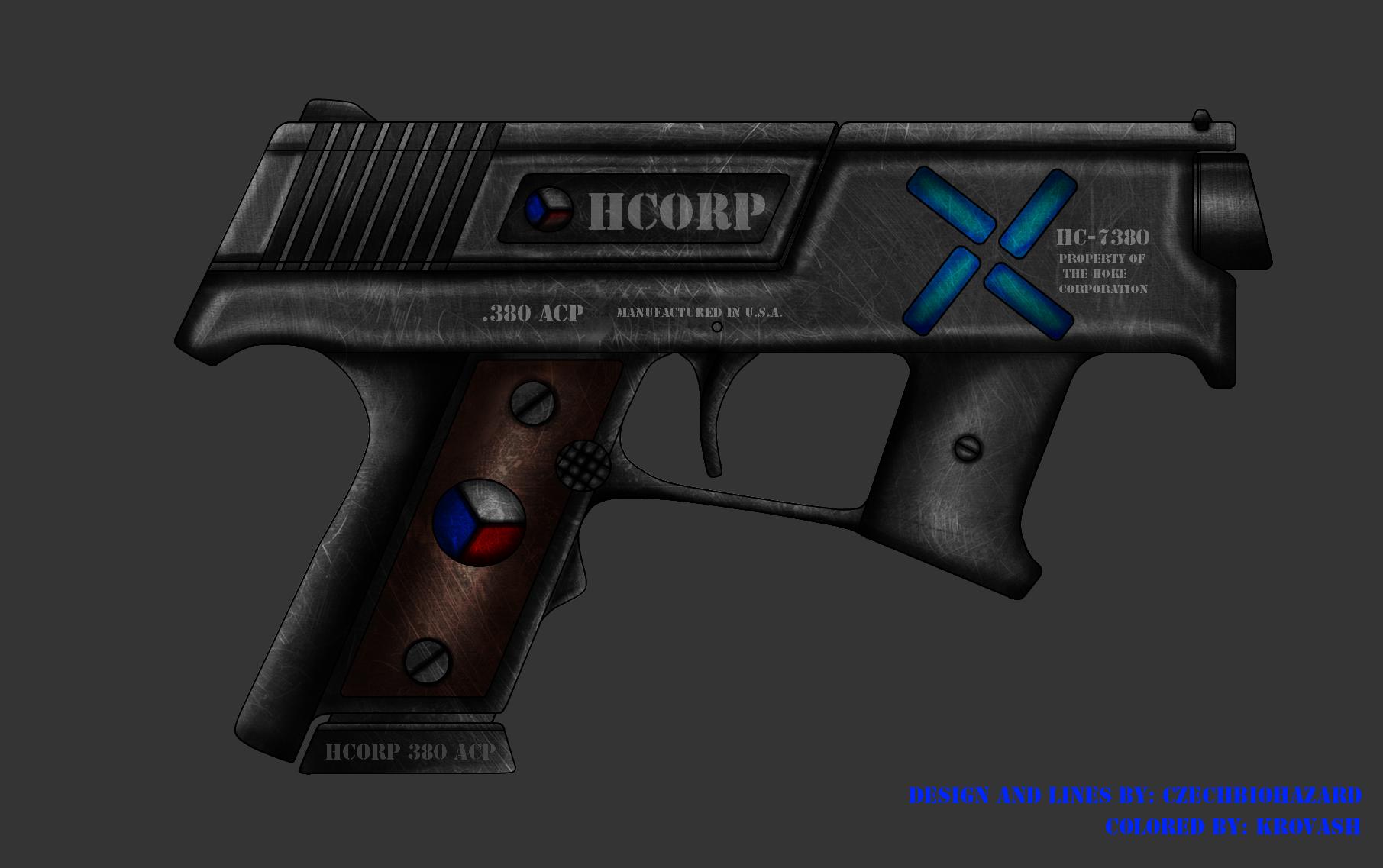 Collab: Fictional Firearm: HC-7380 Compact Pistol by CzechBiohazard