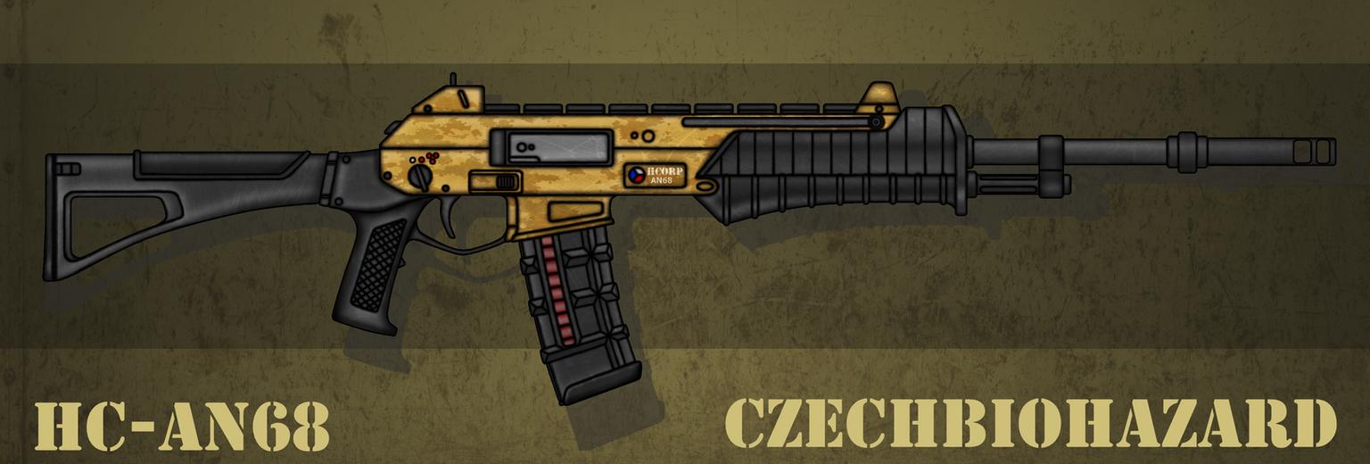 Fictional Firearm: HC-AN68 Assault Rifle by CzechBiohazard