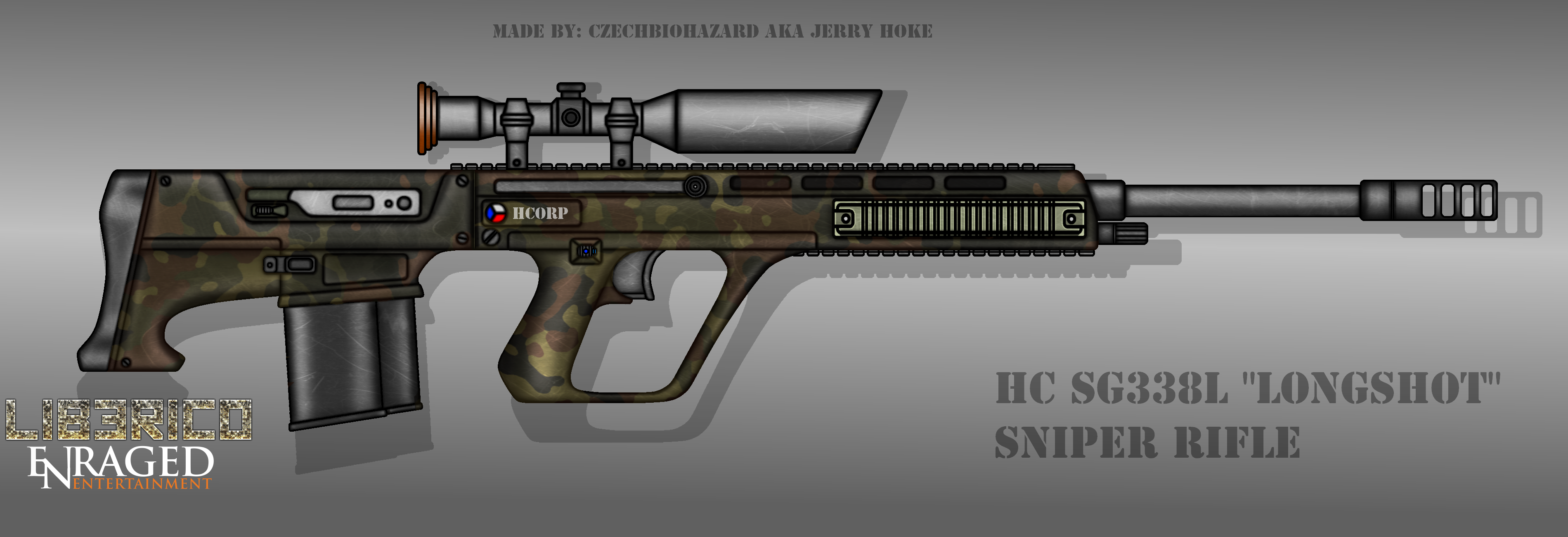 Fictional Firearm: HC-SG338L Sniper Rifle by CzechBiohazard