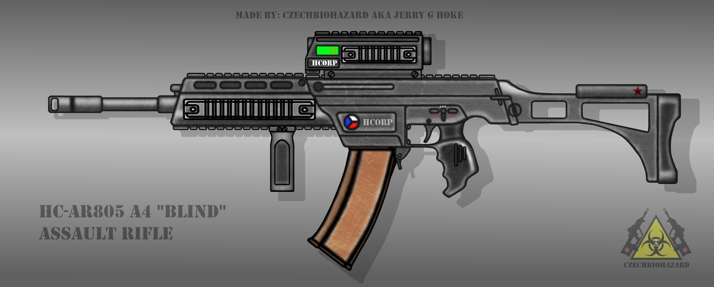 Fictional Firearm: HC-AR805 A4 Assault Rifle by CzechBiohazard