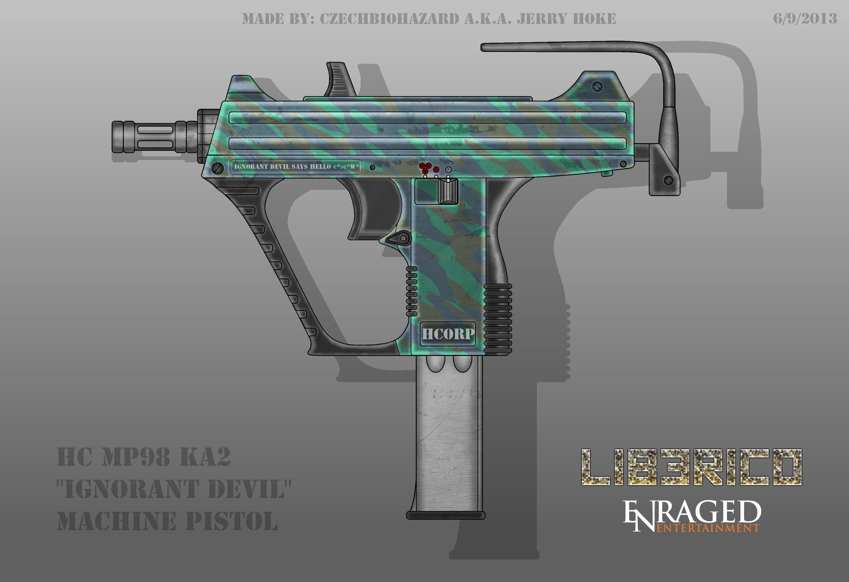 Fictional Firearm: HC-MP98KA2 Machine Pistol by CzechBiohazard