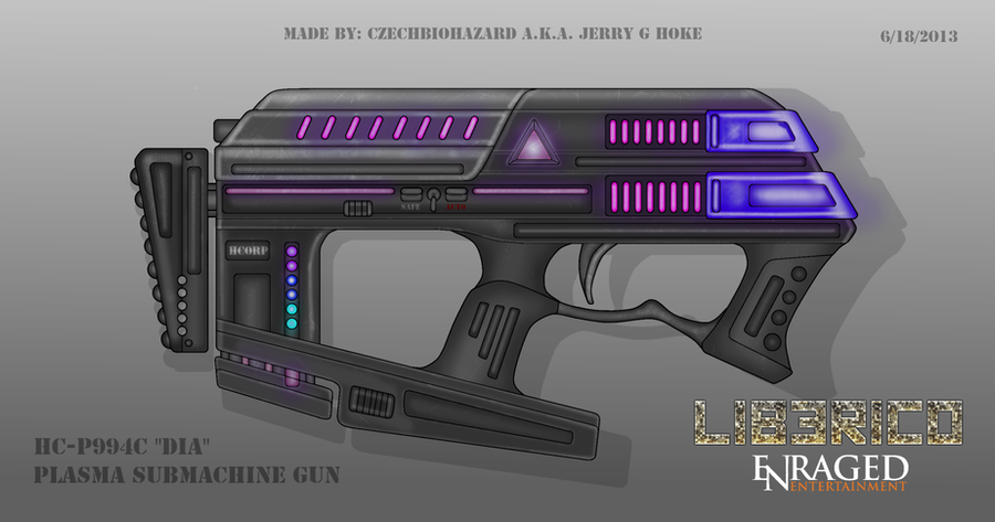 Fictional Firearm: HC-P994C [DIA] Plasma SMG by CzechBiohazard