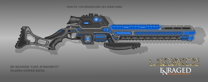Fictional Firearm: HC-SG200XR Plasma Sniper Rifle by CzechBiohazard