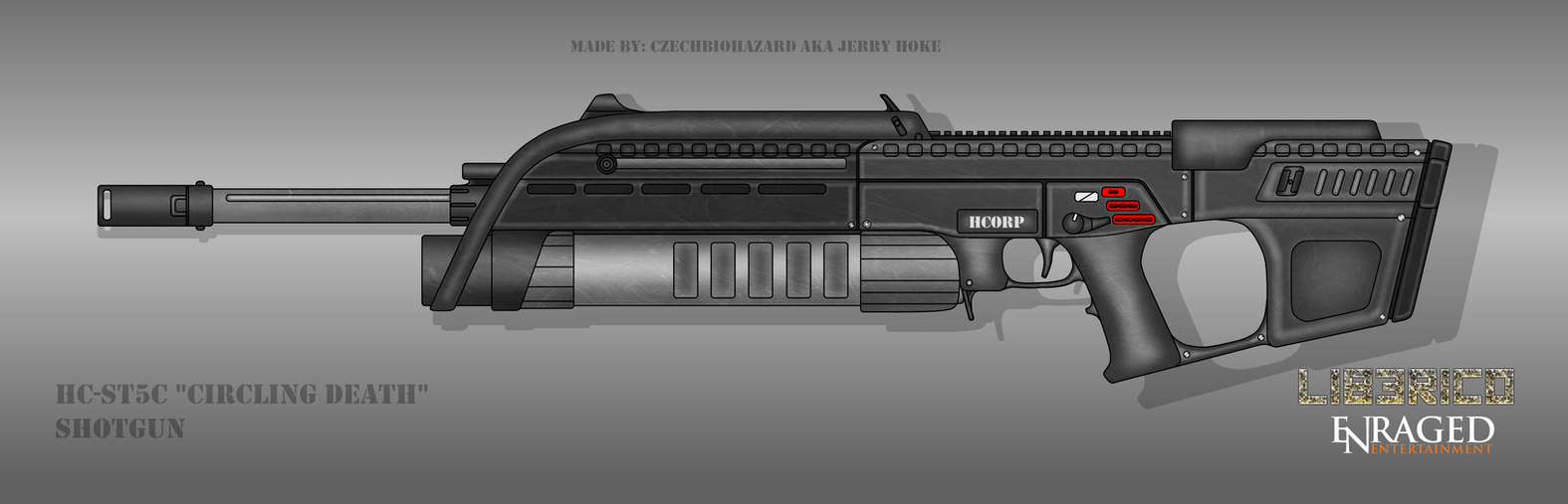 Fictional Firearm: HC-ST5C Automatic Shotgun by CzechBiohazard