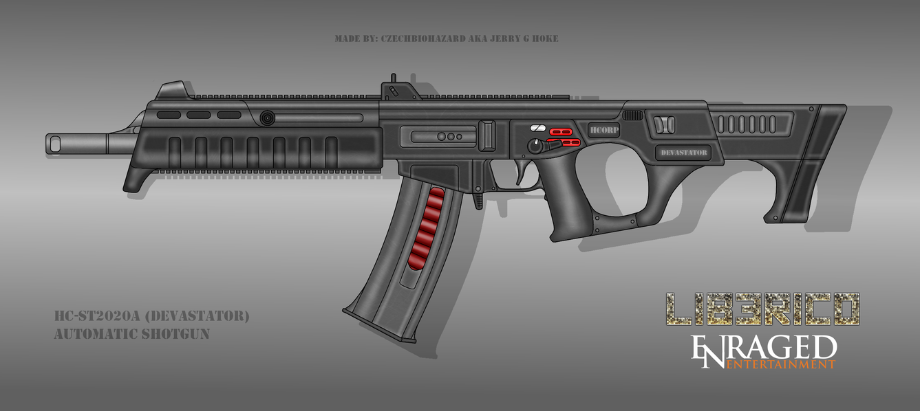 Fictional Firearm: HC ST2020A (Devastator) Shotgun by CzechBiohazard