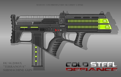 Fictional Firearm: HC SG2084x Terranova Plasma SMG