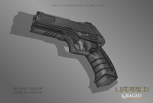 Fictional Firearm: HC-P45E [Ginger] Compact Pistol