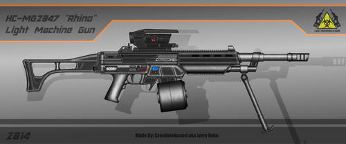 Fictional Firearms: HC-MG2047 [Rhino] LMG by CzechBiohazard