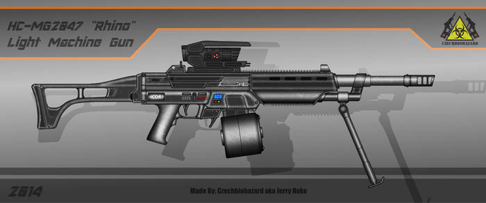 Fictional Firearms: HC-MG2047 [Rhino] LMG