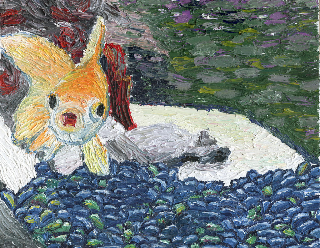 Van Gogh-style Fish Painting by fifthdimensional