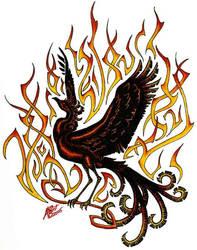 Phoenix by Kuroshadowolf