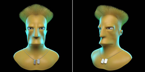 Guile Simpsons 3D Model