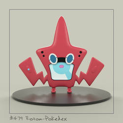 Rotom Pokedex 3D by spyrous13