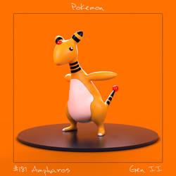 Pokemon: #181 Ampharos by spyrous13