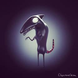 Charmeleon (Tim Burton style)-concept art hat boy by spyrous13