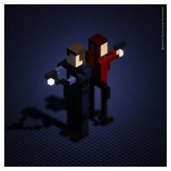Leon - Resident Evil 2 (Voxel Art) by spyrous13