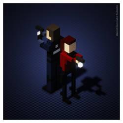 Claire - Resident Evil 2 (Voxel Art) by spyrous13