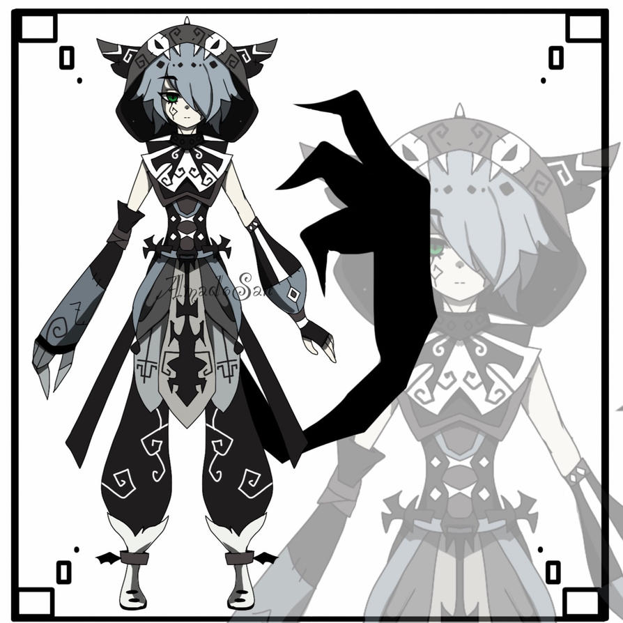 monochromatic dark kemonomimi adoptable CLOSED by AS-Adoptables