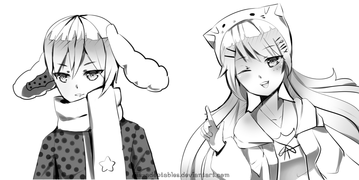 Sketch commssions for emeraldsofsugar by AS-Adoptables