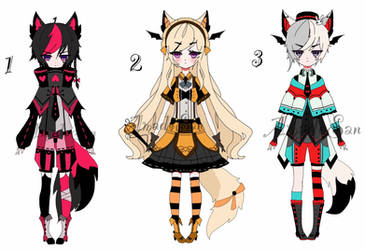 kemonommi adoptable batch CLOSED by AS-Adoptables