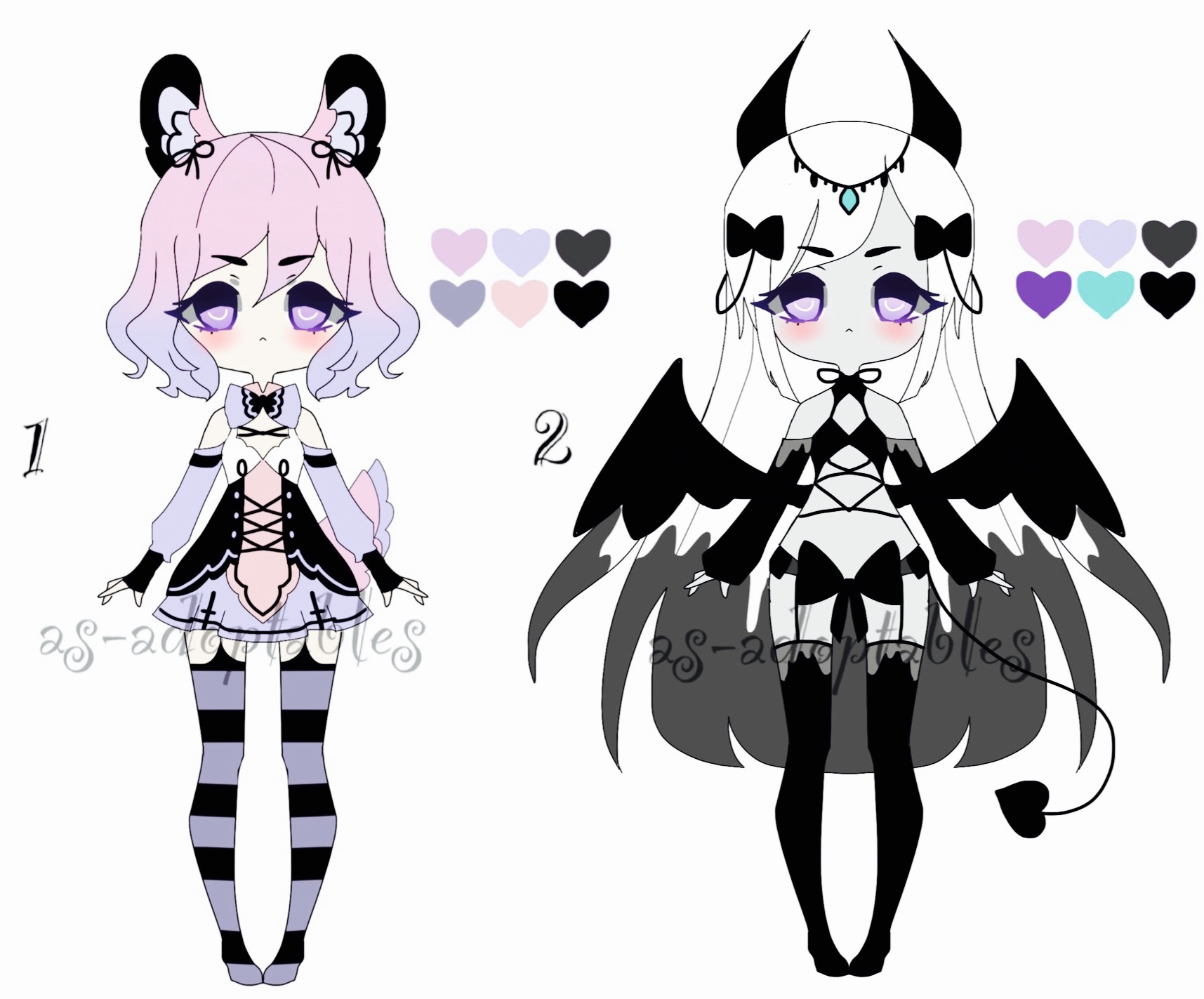 Pastel goth adoptable batch CLOSED by AS-Adoptables on DeviantArt