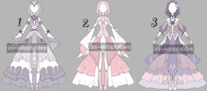 Princess outfit adoptable bacth CLOSED