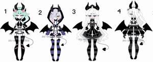 pastel goth demon adoptable batch CLOSED