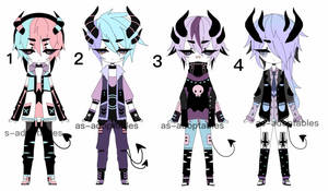 pastel goth demon adoptable batch CLOSED