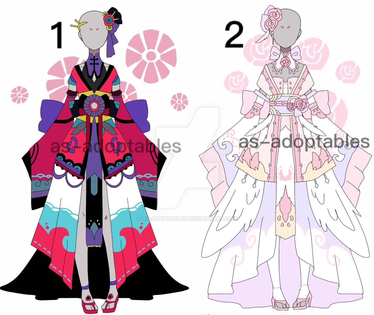 Kimono princess outfit adoptables CLOSED by AS-Adoptables ...