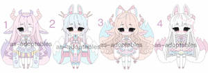 Pastel kitsune adoptables  CLOSED