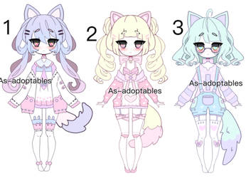 Nekomimi adoptables CLOSED by AS-Adoptables