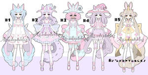 Magical unicorn girl adoptable batch open