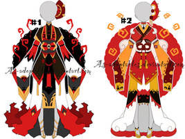 Japanese kimono outfit adoptables closed by AS-Adoptables
