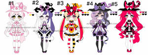 Witch kemonomini adoptable batch closed by AS-Adoptables