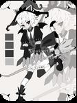 Monochromatic Neko wizard adoptable closed