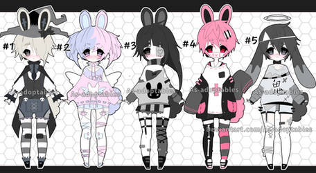 Bunny adoptable batch closed by AS-Adoptables
