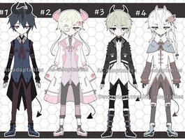 Victorian demon adoptable batch closed by AS-Adoptables