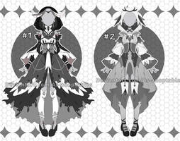 raven princess outfit adoptables open by AS-Adoptables