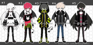Demon and angel adoptables open