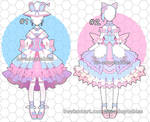 Sweet kemono outfits adoptables closed