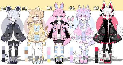 Kemonomimi adoptables open set price by AS-Adoptables
