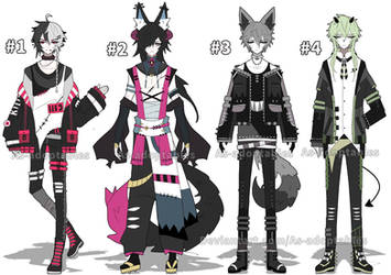 Goth boy adoptables open set price by AS-Adoptables
